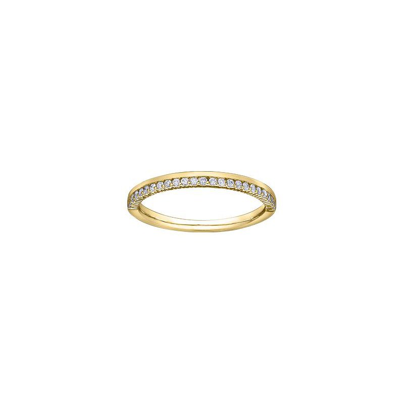 Diamond Days Yellow Gold Stacking Ring