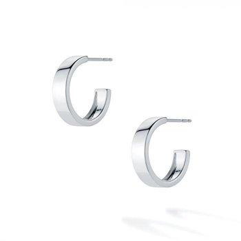BIRKS ESSENTIALS 15mm Bold Sterling Silver Hoop Earrings