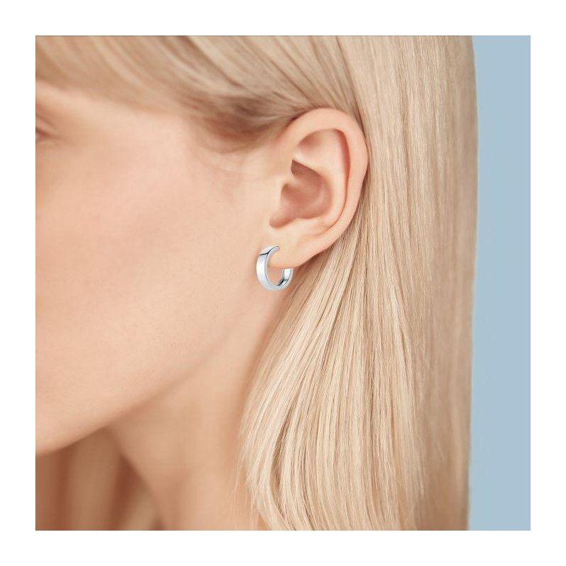 Bijoux Birks BIRKS ESSENTIALS 15mm Bold Sterling Silver Hoop Earrings