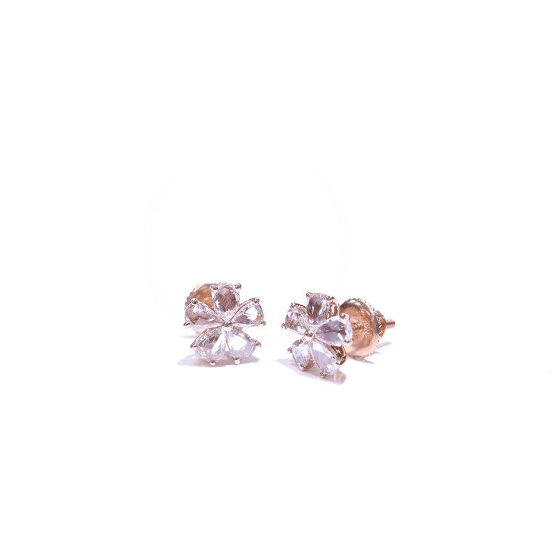 Richardson Signature Rose Cut Diamond Flower Earrings