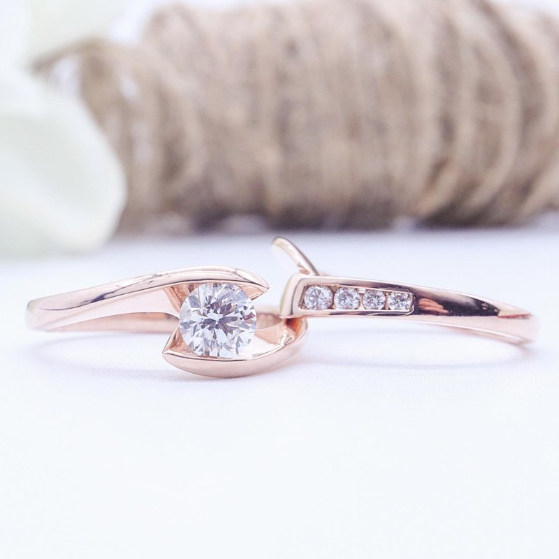 Maple Leaf Diamonds 0.51CT Solitaire Diamond Ring