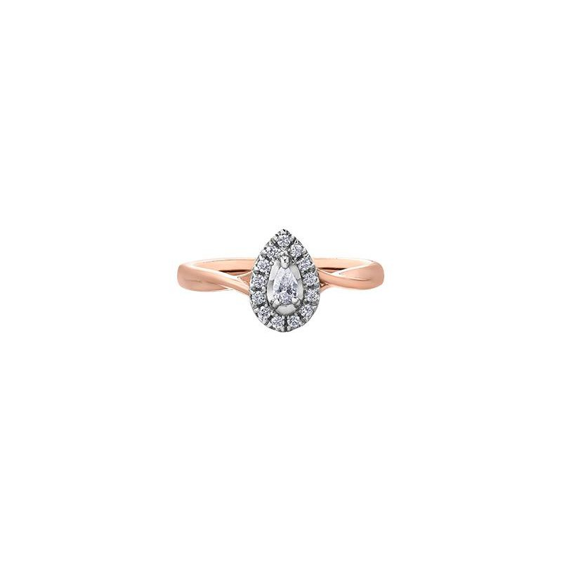 Diamond Days Pear-Shaped Diamond Halo Ring