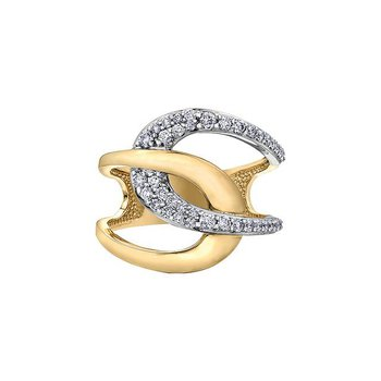 Two-Tone Dinner Ring