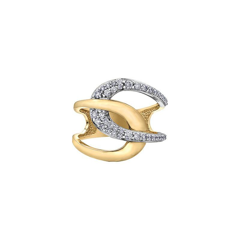 Diamond Days Two-Tone Dinner Ring