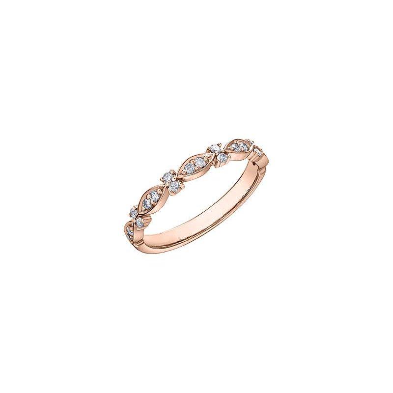 Diamond Days Rose Gold Diamond Stacking Ring