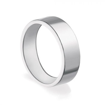 BIRKS ESSENTIALS 5mm Squared Band Ring In Sterling Silver