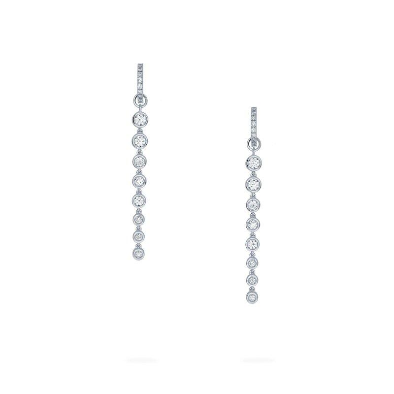 BIRKS SPLASH- Diamond Hoop Drop Earrings