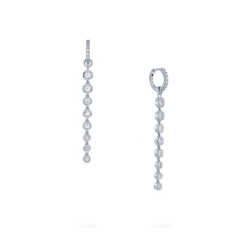 Bijoux Birks BIRKS SPLASH Diamond Hoop Drop Earrings