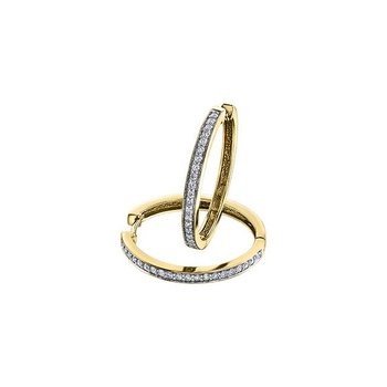 Large Diamond Huggie Hoops