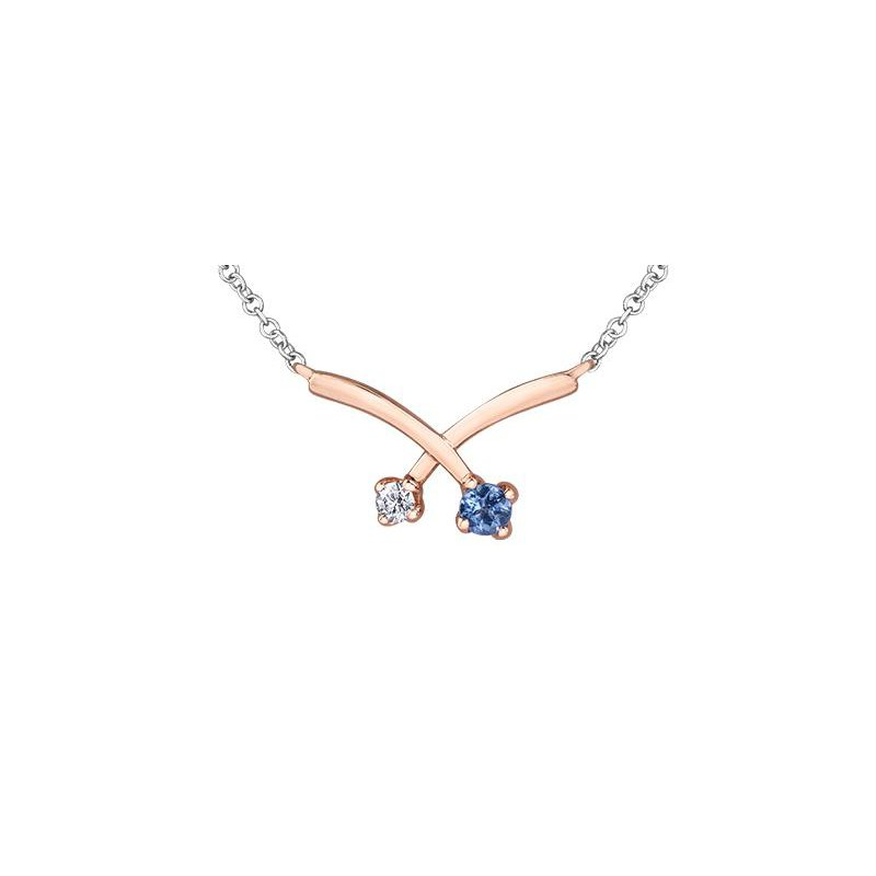 Diamond Days Modern Tanzanite & Diamond Pendant