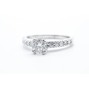 0.50CT Round Diamond Engagement Ring