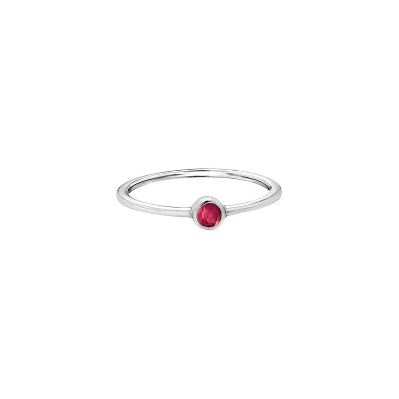 Diamond Days Ruby Birthstone Ring