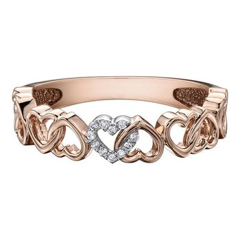 Rose Gold Interlocking Heart Ring