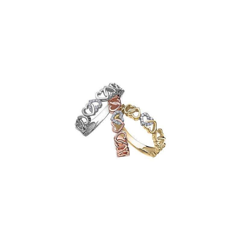 Diamond Days Rose Gold Interlocking Heart Ring