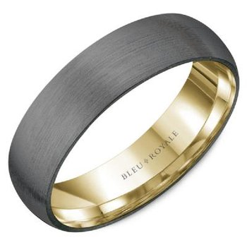 14K Yellow Gold & Tantalum Band