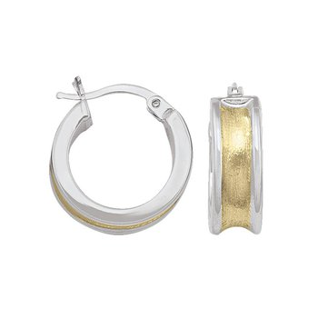 14K Concaved Hoop Earrings