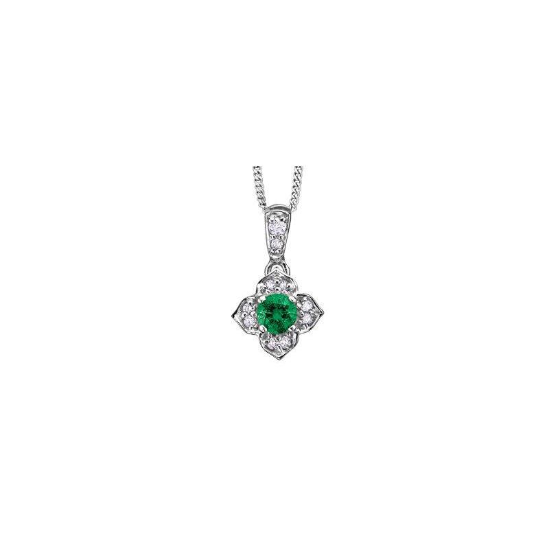 Diamond Days Emerald & Diamond Pendant