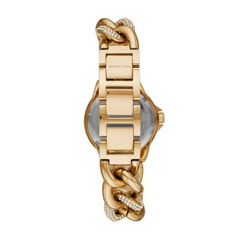 Mini Camille Pavé Gold-Tone Curb-Link Watch