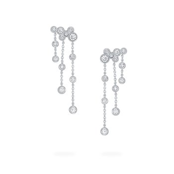 SPLASH- Diamond Cluster Drop Earrings