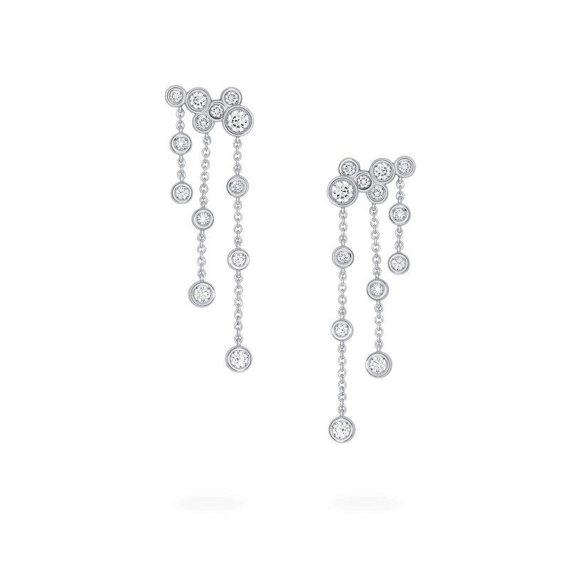 BIRKS SPLASH- Diamond Cluster Drop Earrings