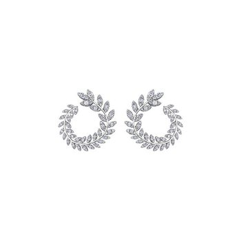 Nature-Inspired Diamond Earrings