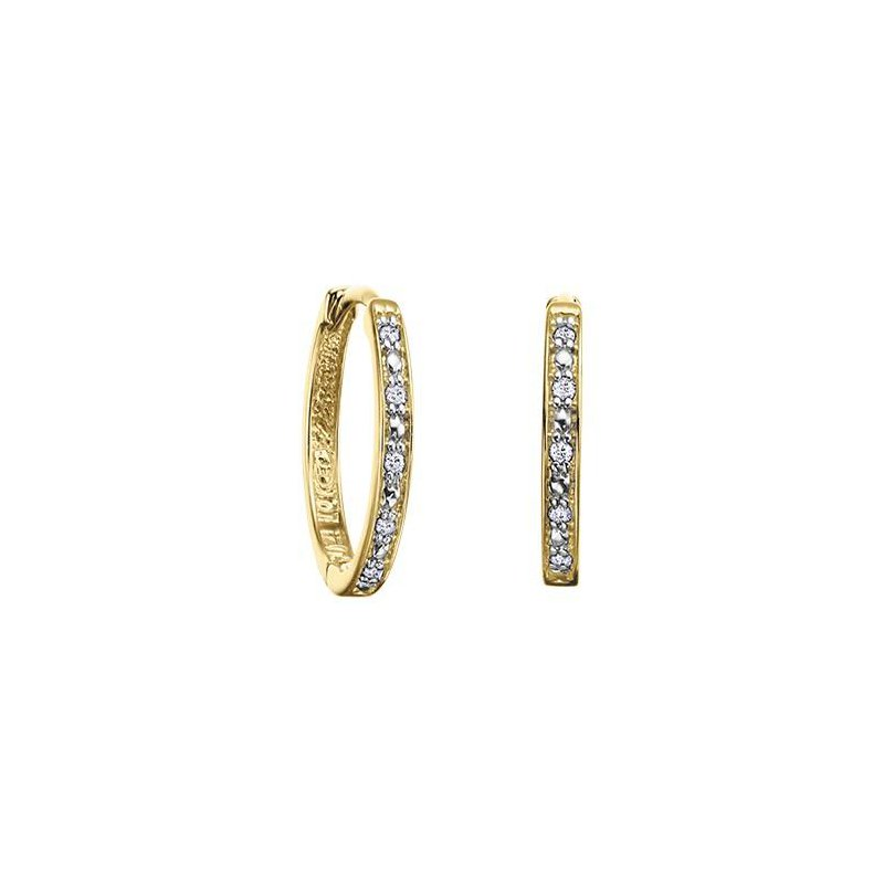 Diamond Days Diamond Huggie Hoops