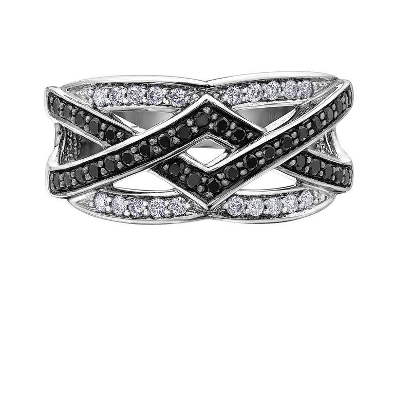 Diamond Days Black & White Diamond Ring