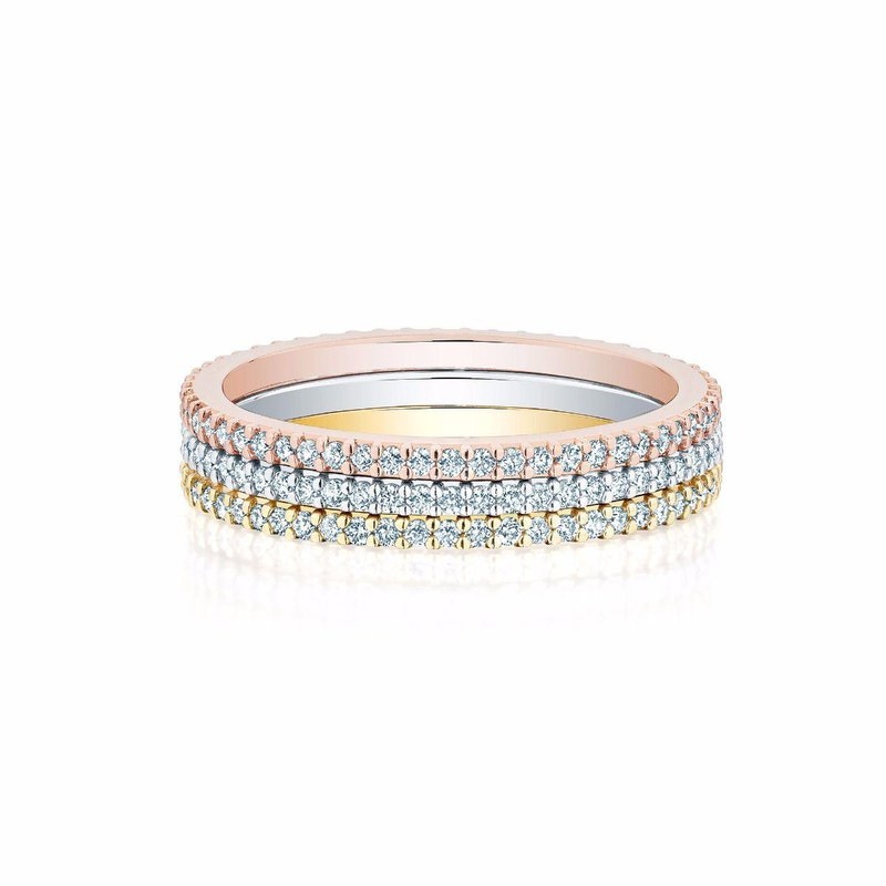 Bijoux Birks BIRKS ICONIC Stackable Rose Gold and Diamond Ring