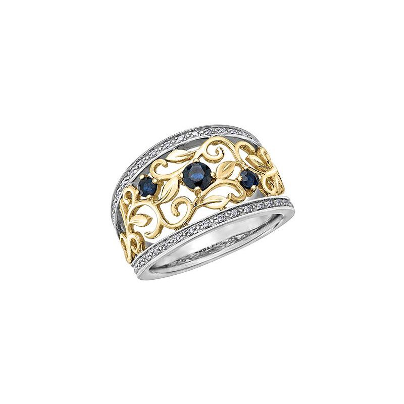 Diamond Days Two-Toned Sapphire Ring