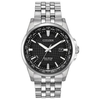 Men's Eco-Drive Watch- World Time Perpetual
