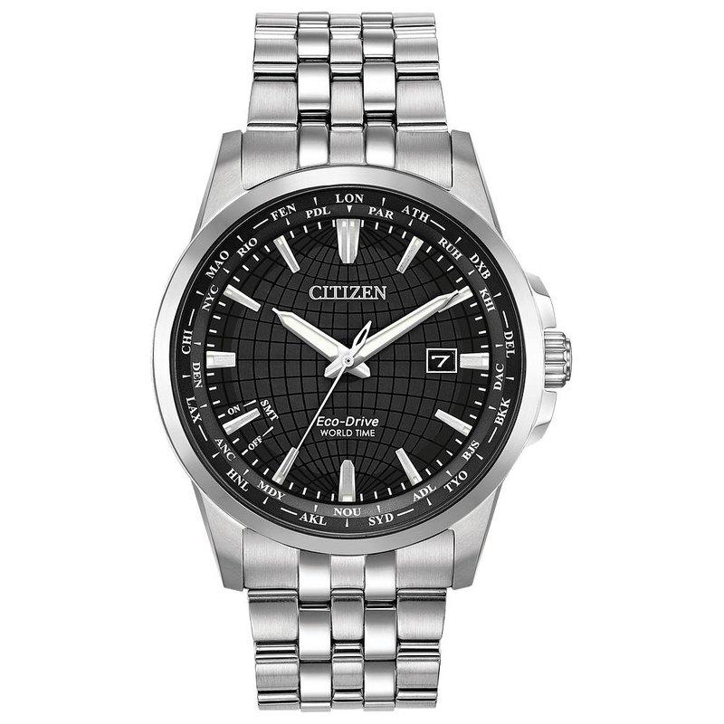 Citizen Men's Eco-Drive Watch- World Time Perpetual
