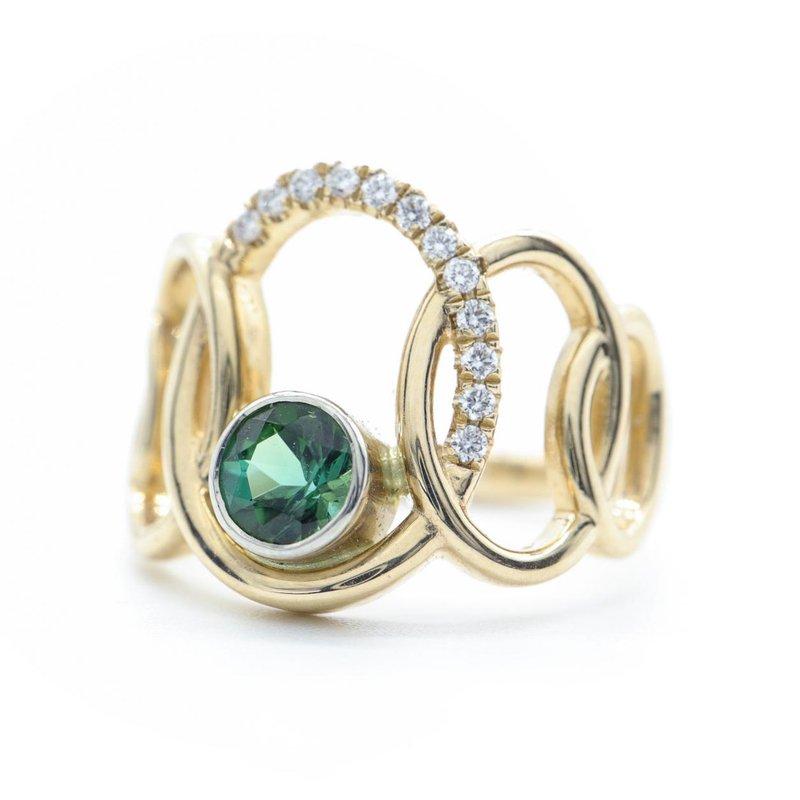 Richardson Signature Green Tourmaline Ring
