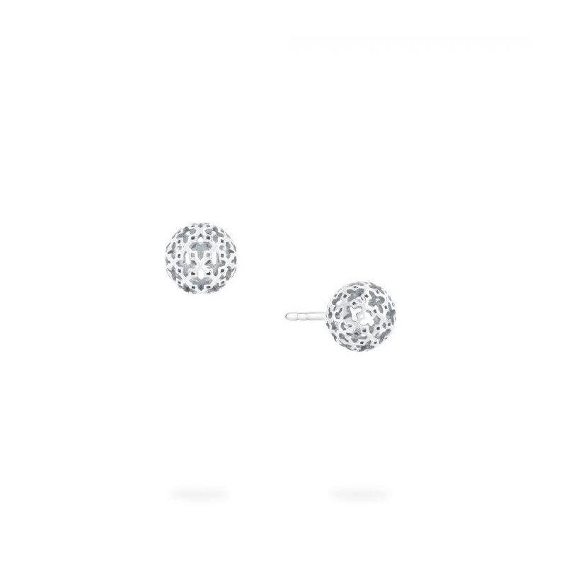 Bijoux Birks BIRKS MUSE ® Mesh Ball Earring In Sterling Silver