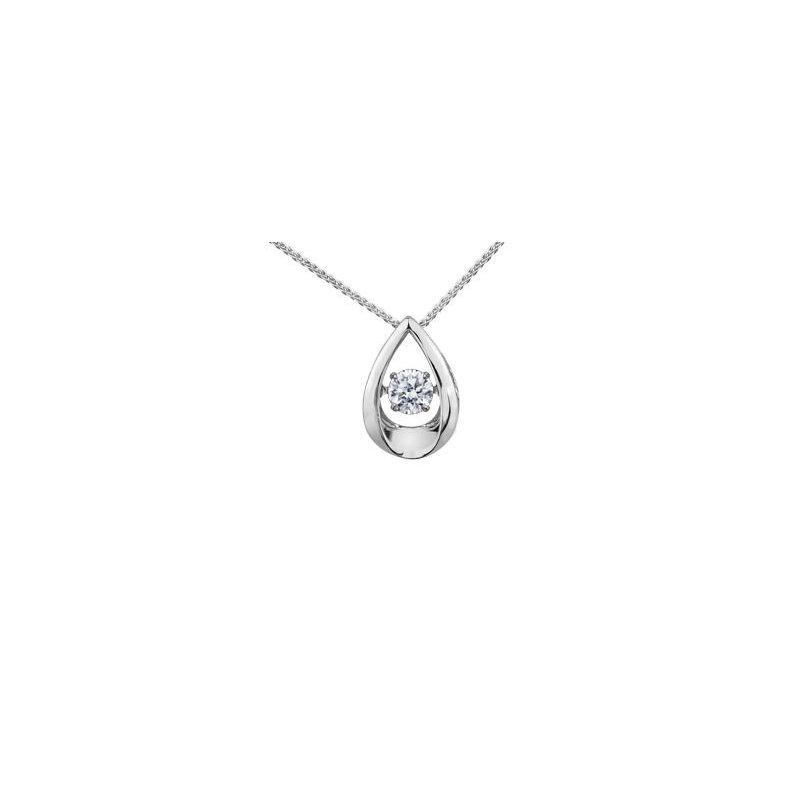 Diamond Days Pulse Teardrop Diamond Pendant