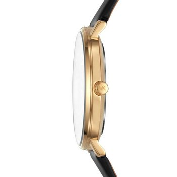 Pyper Black Gold-Tone & Leather Watch