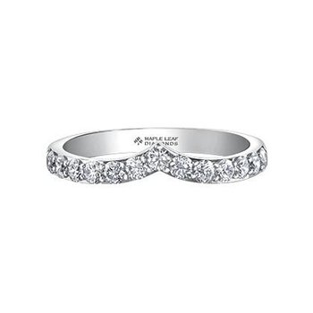 Diamond V-Shaped Stacking Ring