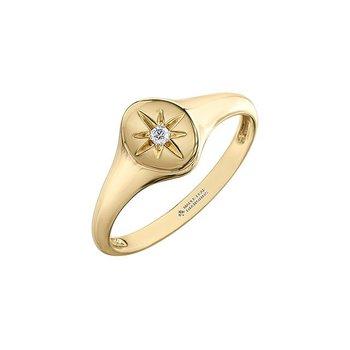Diamond Signet Ring with Diamonds