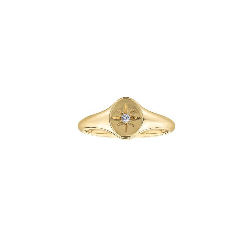 Diamond Days Diamond Signet Ring with Diamonds