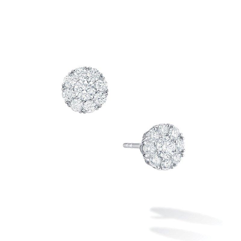 Bijoux Birks SNOWFLAKE- Round Diamond Stud Earrings