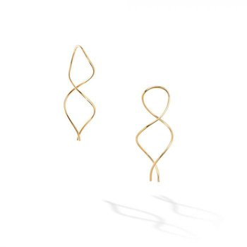 BIRKS ESSENTIALS Yellow Gold Spiral Wire Earrings