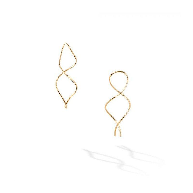 Bijoux Birks BIRKS ESSENTIALS Yellow Gold Spiral Wire Earrings