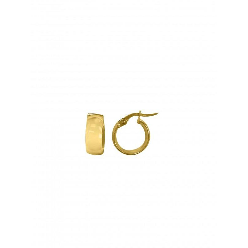 Richardson Signature 14K Yellow Gold Small Dome Hoops