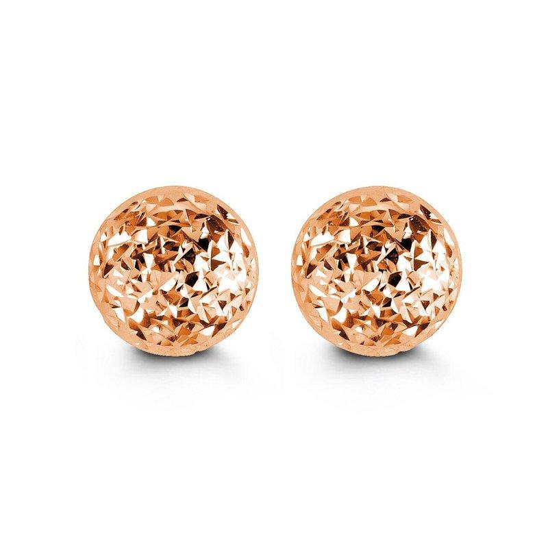 Richardson Signature Rose Gold Ball Studs