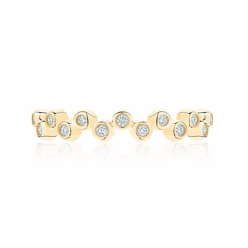 BIRKS Stackable Yellow Gold and Diamond Splash Ring