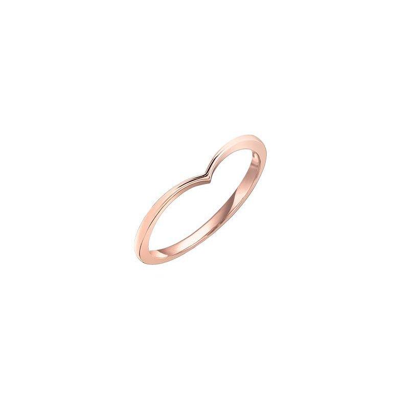 Diamond Days V-Shaped Rose Gold Ring