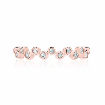 Stackable Rose Gold and Diamond Splash Ring