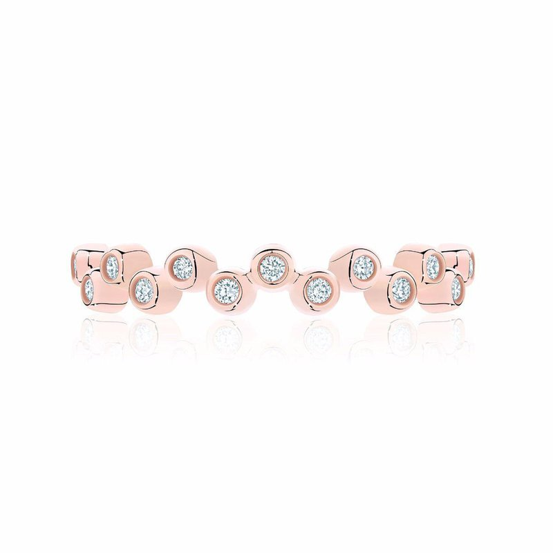 Bijoux Birks BIRKS ICONIC Stackable Rose Gold and Diamond Splash Ring