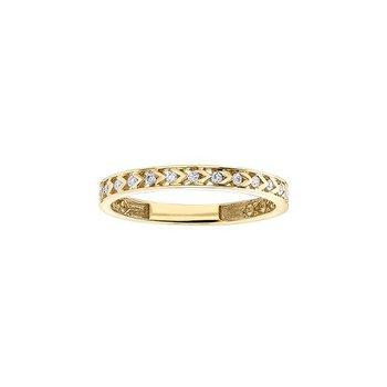 Yellow Gold Chevron Pattern Ring