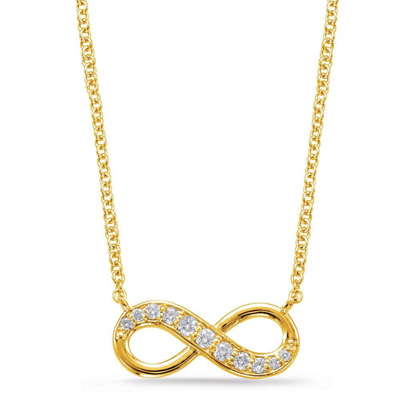 S.KASHI Yellow Gold Infinity Necklace