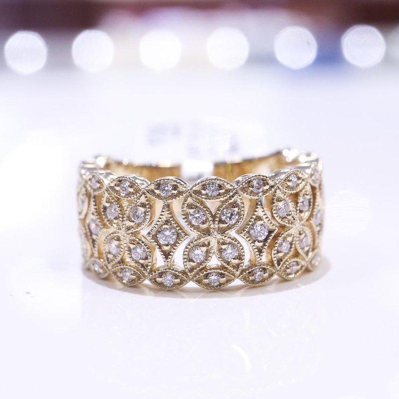 S.KASHI Yellow Gold Diamond Ring